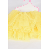 Tutu Dress Baby Yellow/PC **Baby Yellow** Size-0-12 month,Display Card & UPC Code