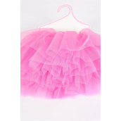 Tutu Dress Hot Pink/PC **Hot Pink** Size-0-12 month,Display Card & UPC Code