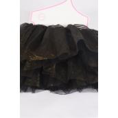 Tutu Dress Black/PC **Black** Size-0-24 month,Display Card & UPC Code