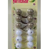 Ball Pony holder 6ct 24mm/DZ each card has UPC Code,12card=Dozen,choose colors