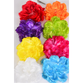"Silk Flower Large Peony Alligator Clip & Brooch Multi/DZ **Multi** Size-5"" Wide,Alligator Clip & Brooch, 2 Fuchsia,2 Blue,2 White,2 Yellow,1 Red,1 Purple,1 Lime,1 Orange,8 Color asst"