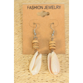 "Earrings Real Seashell Coconut Shell Mix/DZ **Fish Hook** Size-1.75""x 1"" Wide,Earring Card & OPP Bag & UPC Code"