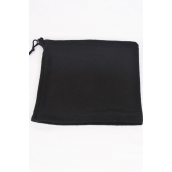 "Polar Fleece Warmer Neck Gaiter Multi Function Black/DZ **BLack** Size-10"" x 9"" Wide,Hang Tag & UPC Code ,OPP Bag"