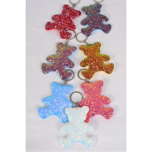 "Key Chain Bear Metallic Multi/DZ **Multi** Size-3.5""x 3"" Wide,2 Red,2 Royal Blue,2 White,2 Gold,2 Pink,1 Purple,1 Sky Blue,7 Color Asst,OPP Bag"