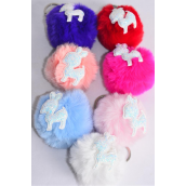 "Key Chain Fur Ball Glitter Fawn/DZ Fur Ball Size-3"",Fawn-2""x 1.5"" Wide,2 White,2 Baby Pink,2 Blue,2 Fuchsia,2 Peach,1 Red,1 Purple,7 Color Asst,Hang Tag & UPC Code"