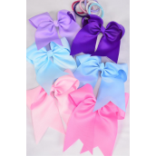 "spring hair bow elastic **Spring Mix** Elastic,Size-6.5""x 6"" Wide,2 of each Color Asst,Clip Strip & UPC Code"