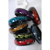 "Bangle Acrylic Leopard Print/DZ Size-2.75x 1"" Wide,2 of each Color Asst, Hang Tag & OPP Bag & UPC code -"