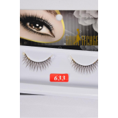 Eyelashes Brown Color Style No #633/DZ **Style #633** Individual Display Box UPC Code,12 Card=Dozen