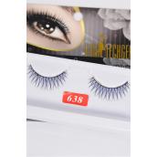 Eyelashes Blue Style #638/DZ **Style #638** Individual Display Box UPC Code,12 Card=Dozen