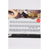 Eyelashes Short Flare Style 8 mm Long/DZ **Short Flare 8 mm** Individual Display Box UPC Code,12 Card=Dozen