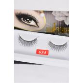 Eyelashes Silver Metallic Style #634/DZ **Style #634** Individual Display Box UPC Code,12 Card=Dozen