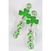 Bracelet Shamrock Stretch Pearl & CCB/DZ match 03176 70125 **Stretch** Hang Tag & OPP Bag & UPC Code