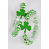 Bracelet Shamrock Stretch Pearl/DZ match 70125 03176 **Stretch** Hang Tag & OPP Bag & UPC Code