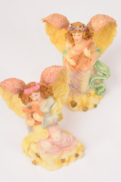 "Figurine White Angel Instrument/DZ Size-4.75""x 3.5""x 4"" Wide,6 of each Instrument Asst,W Gift Box & UPC Code,"
