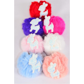 "Key Chain Pom Pom Glitter Fawn/DZ Fur Ball Size-3"",Fawn-2""x 1.5"" Wide,2 White,2 Baby Pink,2 Blue,2 Fuchsia,2 Peach,1 Red,1 Purple,7 Color Asst,Hang Tag & UPC Code"