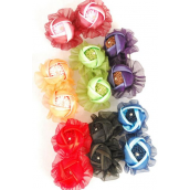 """Hair Bow Flower Multi French Clip/DZ **Flower** French Clip,Size-4""""x 2.5"""" Wide,2 Red,2 Black,2 Navy,2 Burgundy,2 Purple,1 Green,1 Orange Mix,Hang Tag & Clip Strip"""