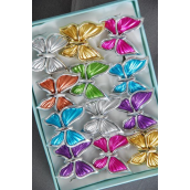 "Rings Poly Butterfly Metallic Silver Trim Multi/DZ **Adjustable** Size-1.25""x 1.25"""" Wide,2 Fuchsia,2 Silver,2 Gold,2 Blue,2 Purple,1 Lime,1 Orange,7 Color Aaat,"
