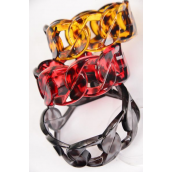 "Bangle Acrylic Tortoise Circular Link/DZ Size-2.75"" x 1.25"" Dia Wide,4 of each Color Asst,Hang tag & Opp Bag & UPC Code"
