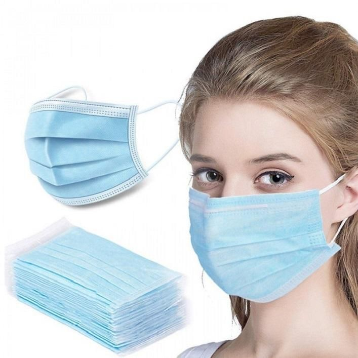 Disposable 50 pcs 3-Play Face Masks/PK (no discounts on this item) W Ear Loops,Personal Protection,50 pcs/Pack Buck (no discounts on this item) IN STOCK