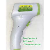 Infrared Thermometer - No Contact Measure in 1 Second. 3 color alarm, 32 sets of memory, 2 AA batt not included