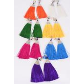 "Earrings Aztec Fringe Tassels Clip On Multi/DZ **Multi** Clip ON,Size-3""x 1.5"" Wide,2 White,2 Fuchsia,2 Purple,2 Yellow,2 Blue,1 Green,1 Orange,7 Color Asst,Earring Card & OPP Bag & UPC Code"