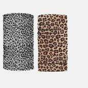 "Multifunction Scarf Face Mask Leopard Print/DZ **Unisex** Size-20"" x 9 1/2"" Wide,4 of each Pattern Asst,Hang tag & OPP bag & UPC Code"