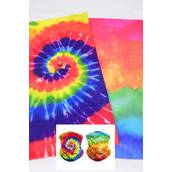 "Multifunction Scarf Face Mask Tiedye Gradient/DZ **Unisex** Size-20"" x 9 1/2"" Wide,6 of each Pattern Asst,Hang tag & OPP bag & UPC Code"