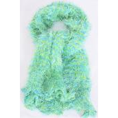 """Multifunction Magic Scarf Amazing Shawls Scarves Green Mix/DZ **Green Mix** Size-13""""x 64"""", Wide,Display Card & OPP Bag & UPC Code"""