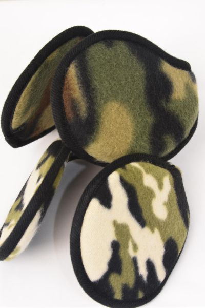 Ear Muff Fleece Camo Flexible/DZ **Camo** Flexible,6 of each Color Asst,Hang Tag & UPC Code
