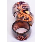 "Bracelet Bangle Poly Swirl/PC Size-2""x 2.75 Dia Wide,Choose Colors,OPP Bag & UPC Code"