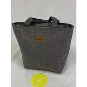 "Lunch Bag Insulated W Silicone Coaster Gray/PC **Gray** Size-11""x 10""x 4"" Wide, OPP bag"