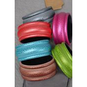 "Bracelet Bangle Acrylic Cracked Multi/DZ **Multi** Size-2.75""x 1.25"" Dia Wide,2 of each Color Asst,Hang tag & Opp bag & UPC Code"