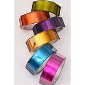 "Bracelet Bangle Acrylic Cat-eye Octagon Mirror Look Multi/DZ **Multi** Size- 2.75"" x 1.25"" Wide,2 of each Color Asst,Hang Tag & Opp Bag & UPC Code"