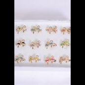 Rings 24 pcs Enamel Ballerina/DZ **Adjustable** 2 of each Color Asst,Velvet Ring Display Window Box & OPP bag & UPC Code -