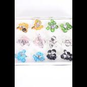 Rings Venetian Glass Crystal Charms Mix Multi/DZ **Adjustable** Multi,2 of each Color Asst,Velvet Ring Display Window Box & OPP  bag & UPC Code -